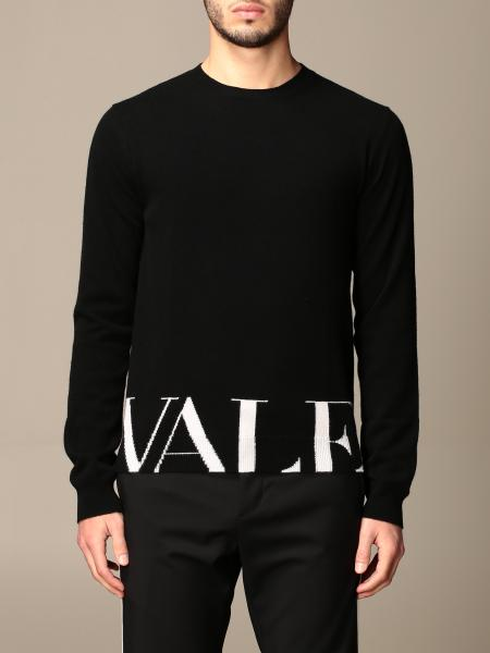 Maglia Valentino con logo in lana e cashmere