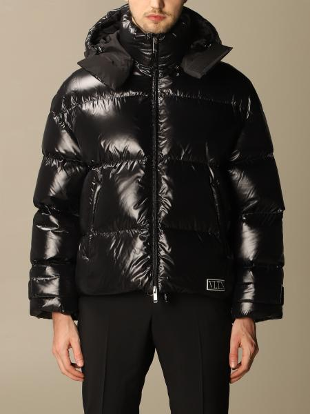 Valentino maxi down jacket in padded nylon with hood