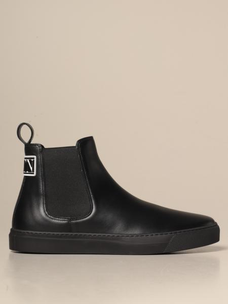 Valentino Garavani woodboot ankle boots in leather with VLTN logo
