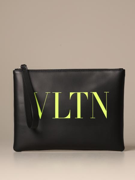 Valentino Garavani mini clutch bag with fluo VLTN logo
