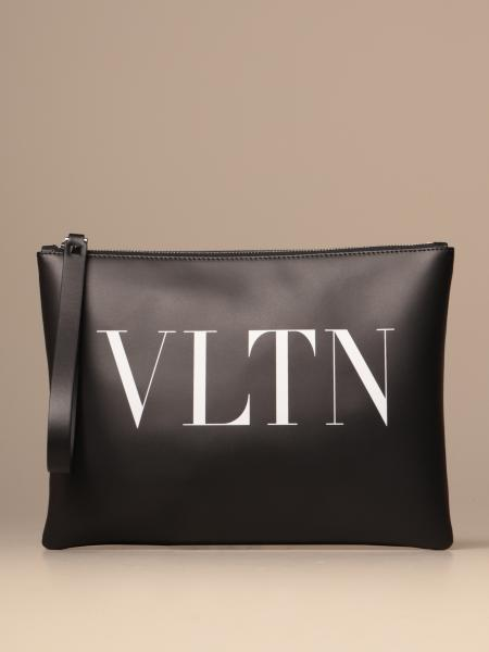 Valentino Garavani clutch bag with VLTN logo