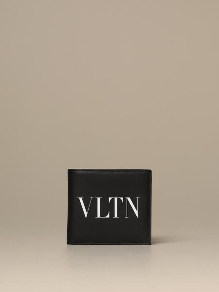 Valentino Garavani wallet with VLTN logo in leather