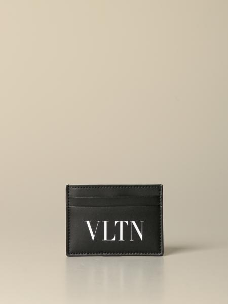 Valentino Garavani credit card holder with VLTN print