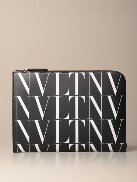 Valentino Garavani leather document holder with VLTN logo