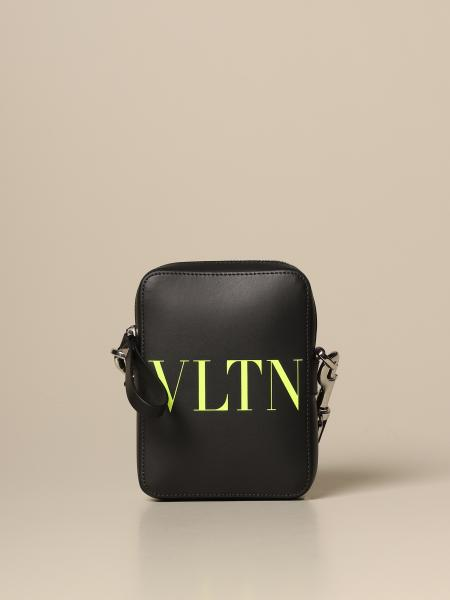 Valentino Garavani bag in fluo VLTN logo leather