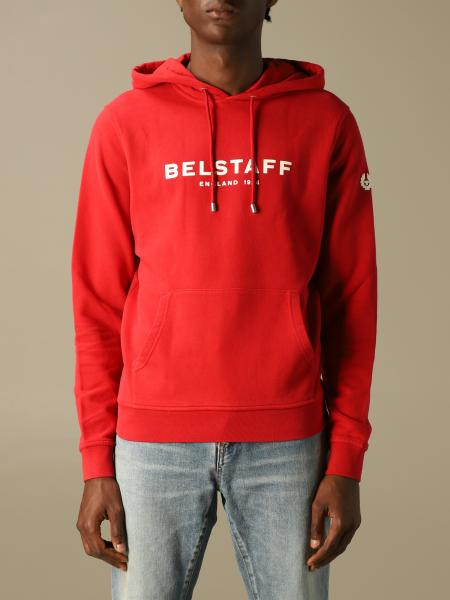 Belstaff uomo: Felpa Belstaff in cotone con logo