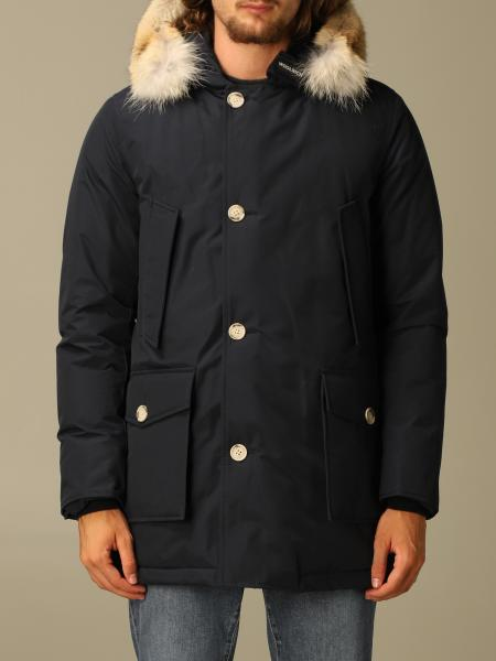Woolrich men: Arctic Woolrich parka with hood and fur edges