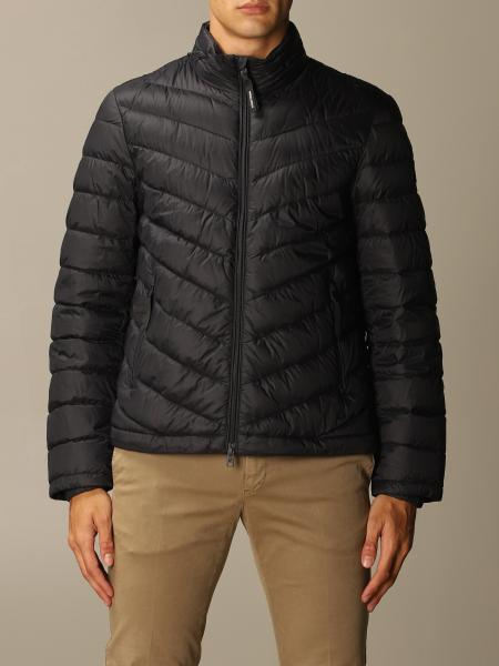 Woolrich men: Woolrich down jacket with removable hood