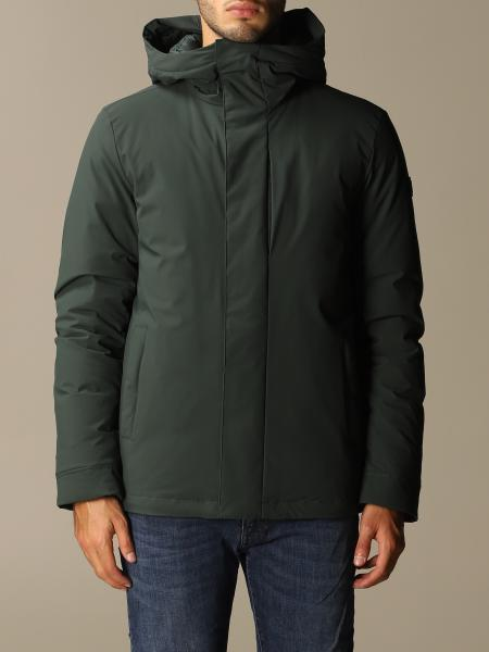 Stretch pacific jacket corto con cappuccio