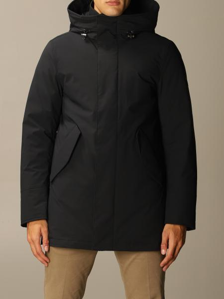Stretch mountain parka con cappuccio