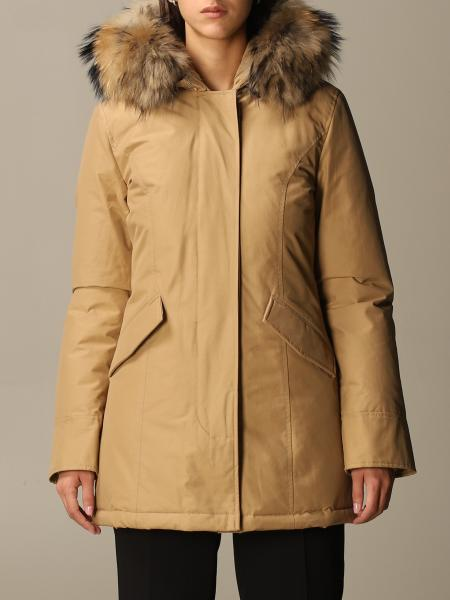 Arctic Woolrich parka with hood and fur edges