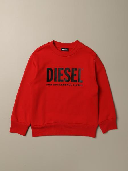 Felpa Diesel a girocollo in cotone con logo
