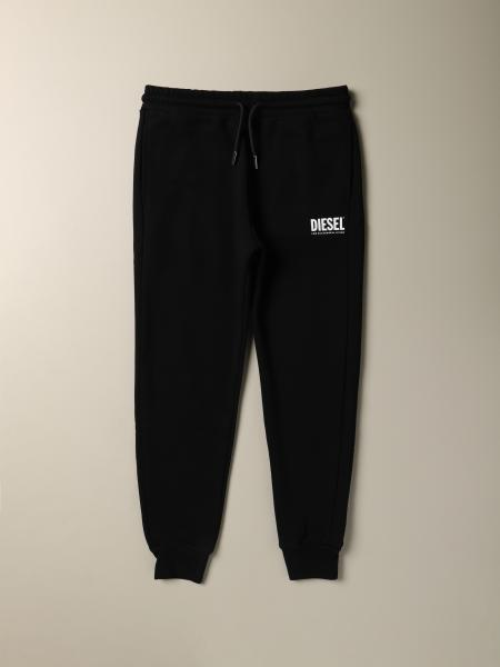 Diesel cotton jogging trousers with logo