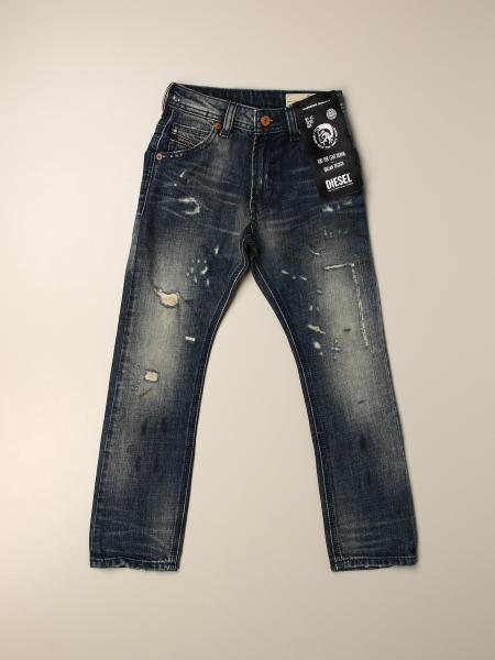 Jeans Krooley Diesel in denim used con rotture