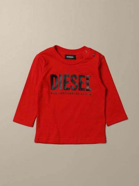 Diesel crewneck t-shirt in cotton with logo