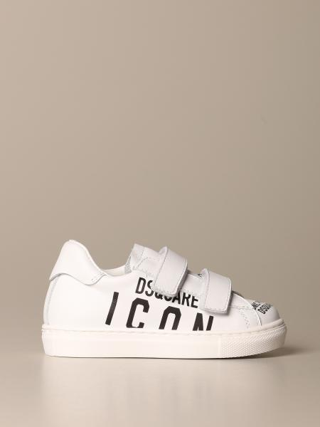 Dsquared2 sneakers in real leather with Icon print