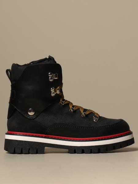 Dsquared2 trekking boot in leather and suede
