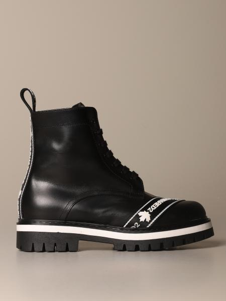 Dsquared2 amphibian in leather with logoed bands