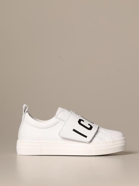 Dsquared2 leather sneakers with Icon print