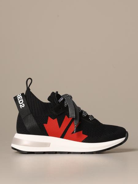 Dsquared2 sneakers in technical fabric with maple leaf logo