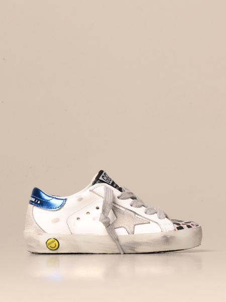 Superstar Golden Goose sneakers in glittery animalier leather and canvas
