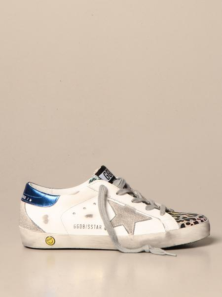 Golden Goose: Superstar Golden Goose animalier lurex sneakers