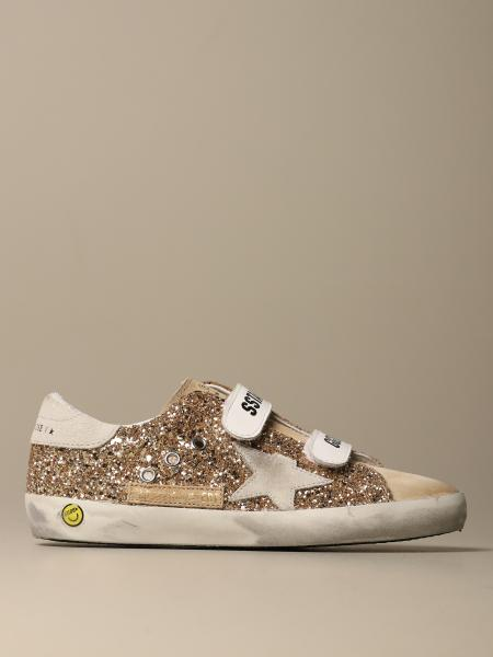 Old School Golden Goose sneakers in glitter fabric and suede