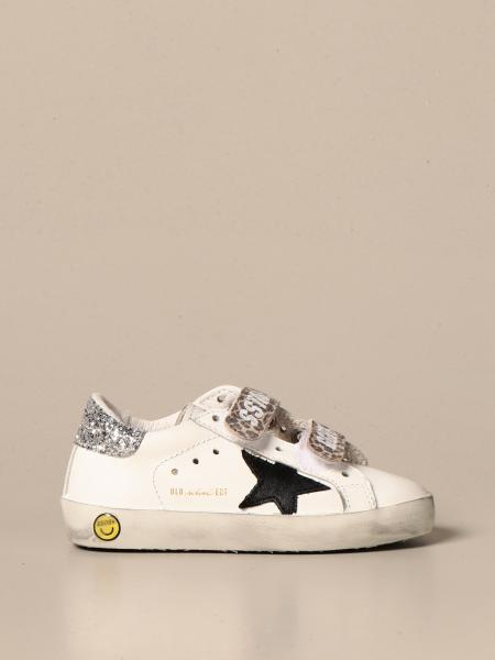 Golden Goose bambino: Sneakers Old school Golden Goose in pelle e glitter