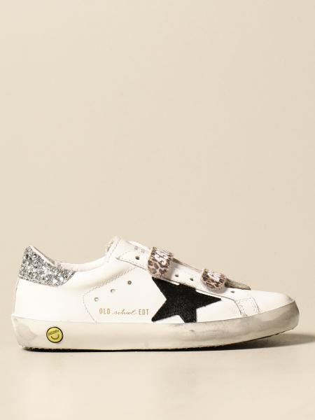 Golden Goose bambino: Sneakers Old School Golden Goose in pelle