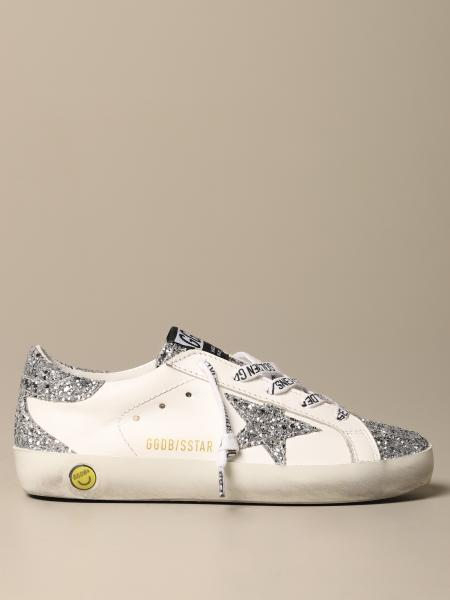 Golden Goose bambino: Sneakers Superstar classic Golden Goose in pelle e glitter