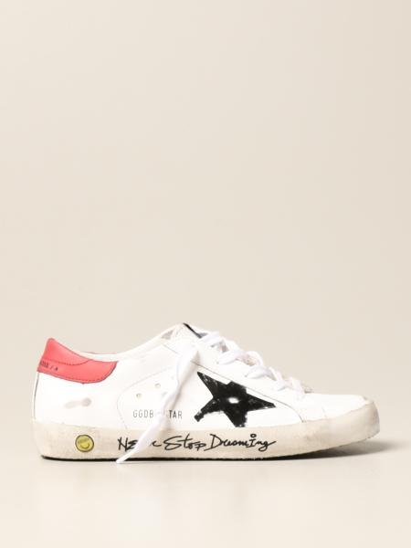 Golden Goose bambino: Sneakers Superstar Classic Golden Goose in pelle liscia