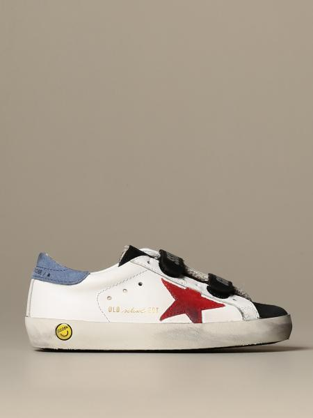 Golden Goose: Golden Goose Old School sneakers in leather and suede