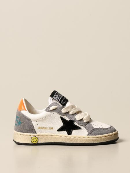 Golden Goose kids: Ballstar Golden Goose sneakers in leather and suede
