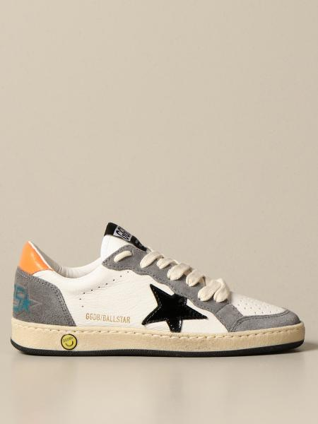 Golden Goose bambino: Sneakers Ball Star Golden Goose in pelle e camoscio