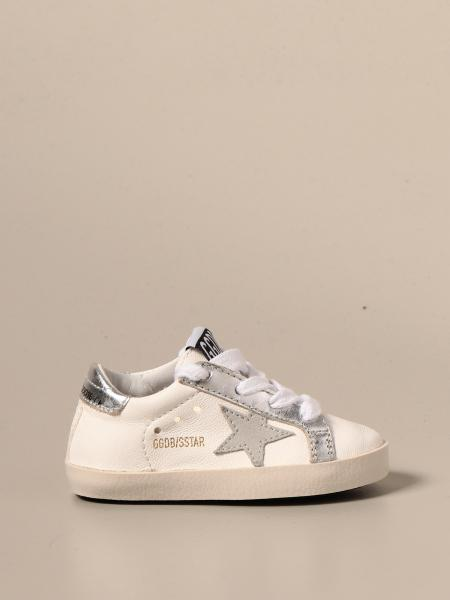 Golden Goose bambino: Sneakers Superstar Golden Goose in pelle liscia e laminata