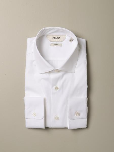 Camicia Z Zegna slim in cotone stretch