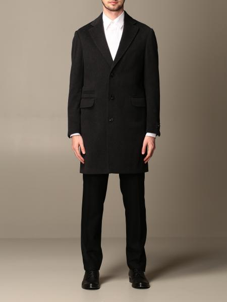 Z Zegna coat in single-breasted wool