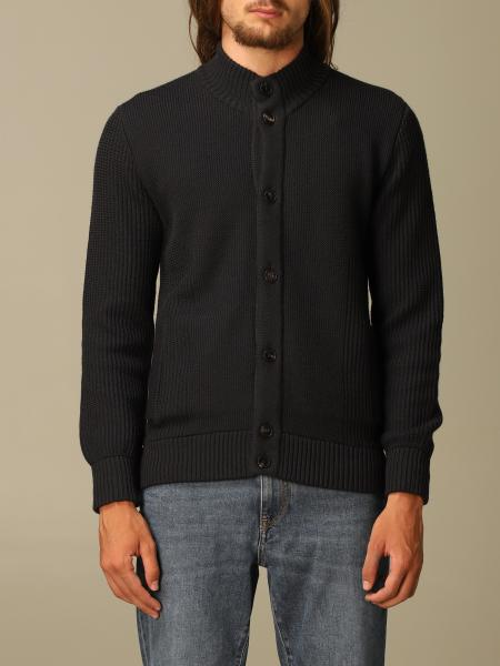 Z Zegna cardigan in textured and water-repellent wool