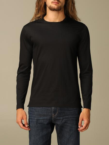 Z Zegna men: Z Zegna t-shirt in pure cotton with long sleeves