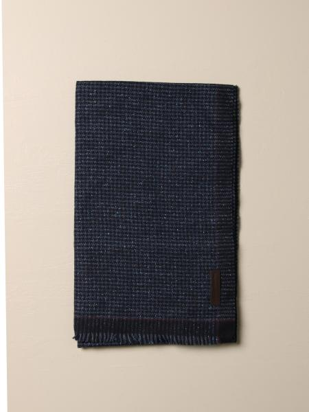 Ermenegildo Zegna scarf in houndstooth wool and silk