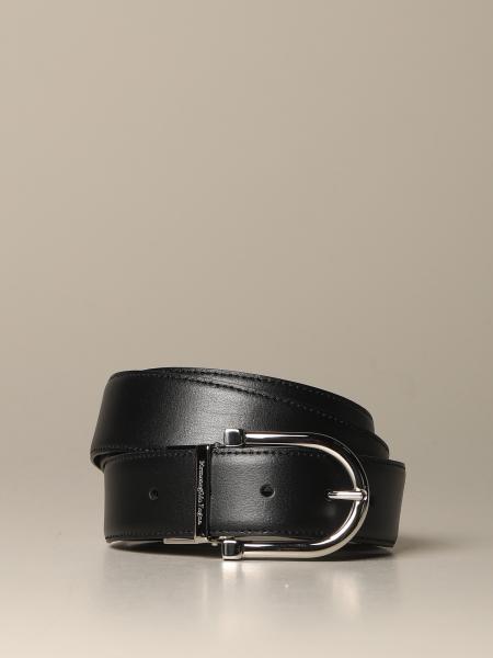 Cintura Ermenegildo Zegna in pelle reversibile