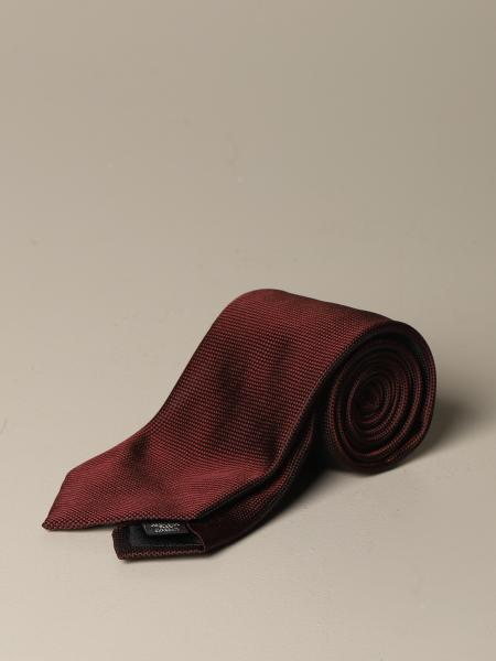 Ermenegildo Zegna silk tie with micro pattern