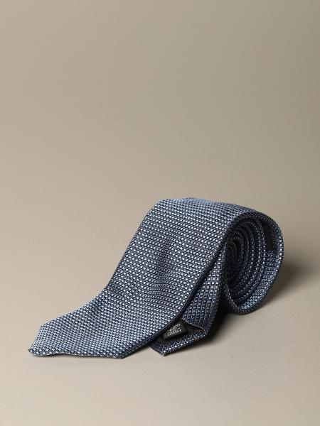Ermenegildo Zegna silk tie with checked pattern