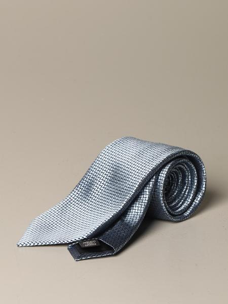 Ermenegildo Zegna silk tie with a zig zag pattern