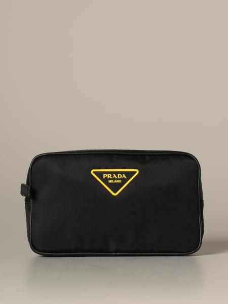 Prada nylon belt bag with triangular rubber logo