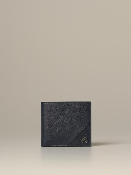 Galvanica Prada wallet in saffiano leather