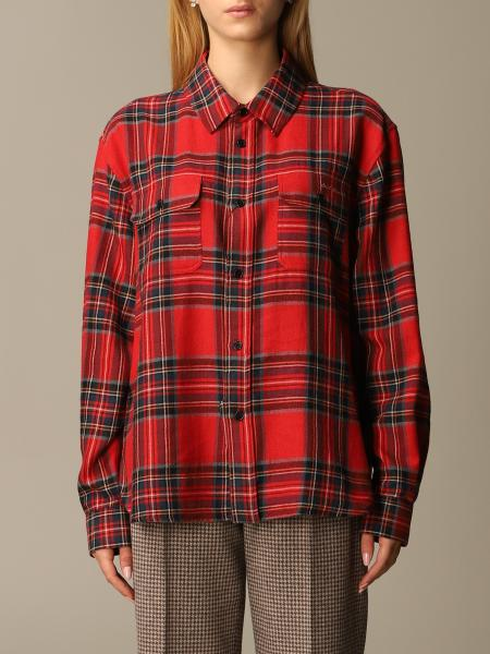 Saint Laurent shirt in tartan cotton