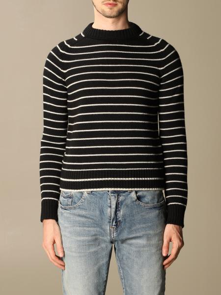 Saint Laurent striped virgin wool pullover