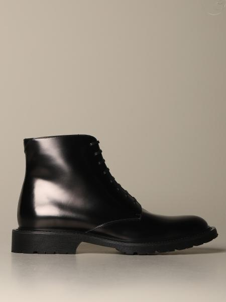 Bottines Saint Laurent en cuir brossé