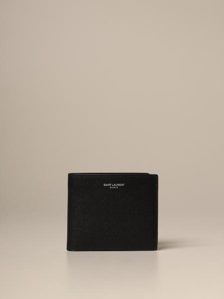 Saint Laurent wallet in grain de poudre leather